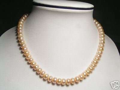 Smooth Pink FW Pearls Necklace
