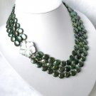16-17-18'' round coin peacock freshwater pearl necklace