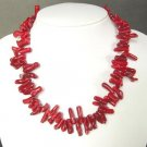 Necklace Red Coral Large Branch