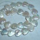 2 strand Fantastic heart shape freshwater pearl string