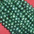10 strand 6-7 mm bottle-green freshwater pearl
