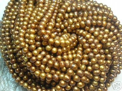 10 strand 6-7 mm brown freshwater pearl