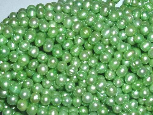 10 strand 6-7 mm peak green freshwater pearl string