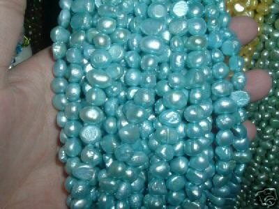10 strand 7-8 mm nugget freshwater pearl loose string