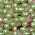 5 strand 8-9x12-13 mm peak green freshwater pearl