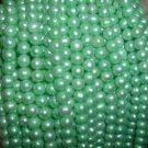 A++ 10 strand 7-8 mm potato freshwater pearl-apple green