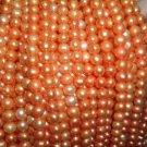 A++ 10 strand 7-8 mm potato freshwater pearl-orange