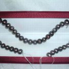 AA+ 10-11 mm black freshwater pearl loose string