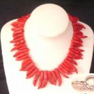 Fantastic red horn coral necklace