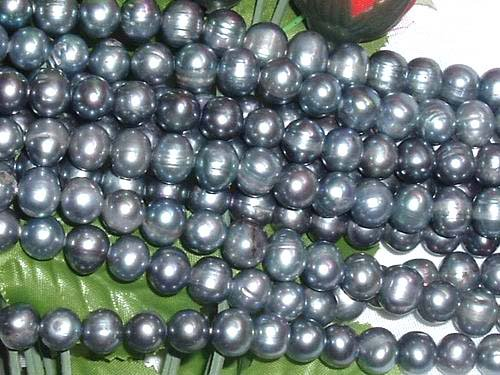 wholesale 10 strand 9-10 mm black freshwater pearl