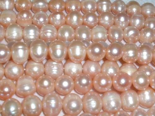 wholesale 10 strand 9-10 mm pink freshwater pearl