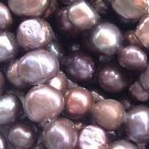 wholesale 10 strand 6-7 mm nuggets shape fw pearl-purple brown