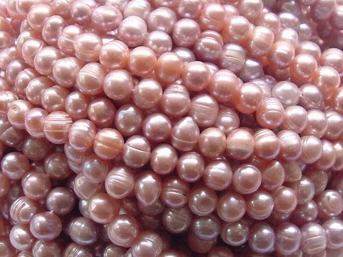 wholesale 20 strand 8-9 mm purple freshwater pearl