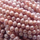 wholesale 20 strand 8-9 mm purple freshwater pearl