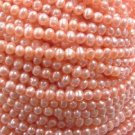 wholesale 30 strand 5 mm pink freshwater pearl string