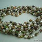 wholesale 10 pcs white pearl cloisonne bead necklace