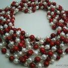 wholesale 10 pcs white pearl red lapis necklace
