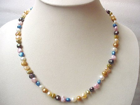 19'' 7-COL BAROQUE FW PEARL NECKLACE