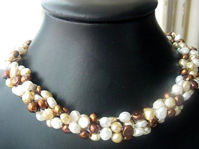 2-STR FW pearl 6-7mm necklace 36''