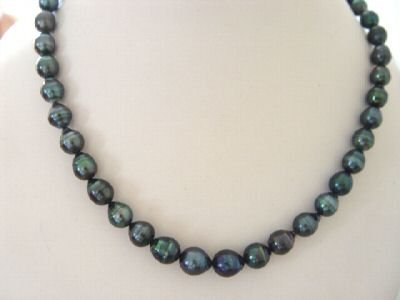 22'' STUNNING PEACOCK TAHITIAN PEARL NECKLACE