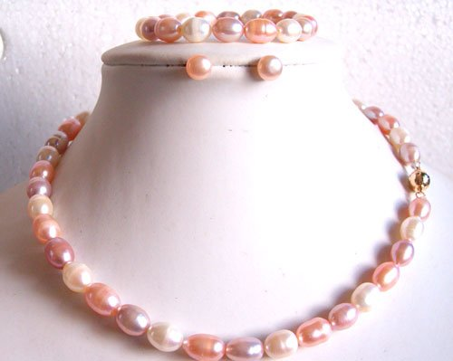 FW nature pearl necklace bracelet earring