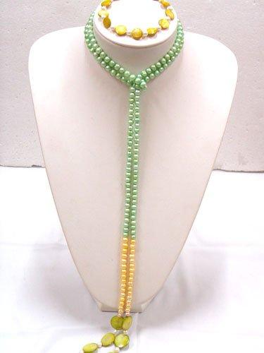 Elegant FW pearl necklace bracelet