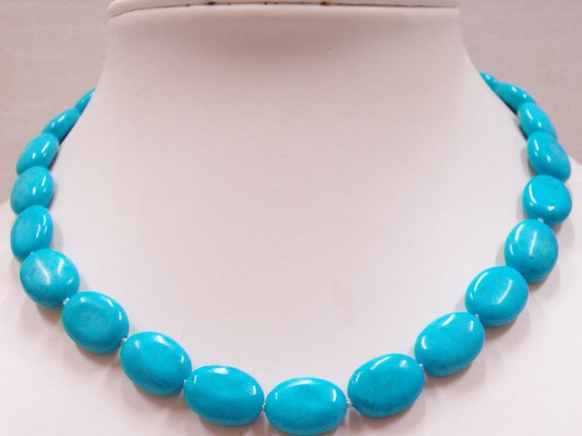 Natural Oval Turquoise Necklace AAA+