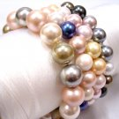 Wholesale 4piece multicolor 8.5mm seashell bracelet AAA