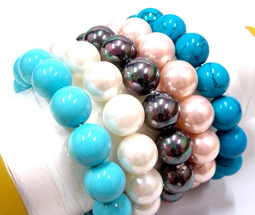 Wholesale 5 piece 12mm south seashell bracelet