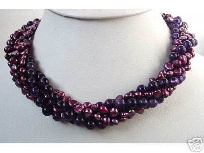 38'' MAUVE FW PEARL AMETHYST NECKLACE
