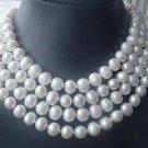 wholesale 4PCS white FW pearl 10mm necklace
