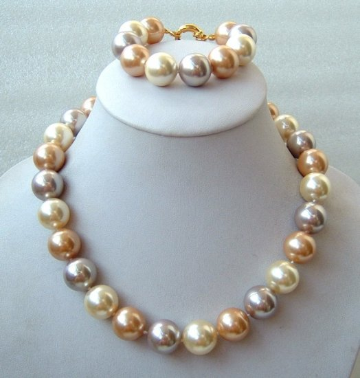 12mm south sea shell pearls necklace set