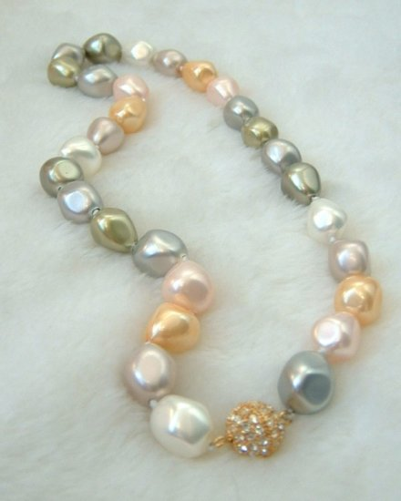 MIX color south seashell pearl necklace