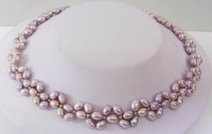 17'' lavender color freshwater pearl necklace