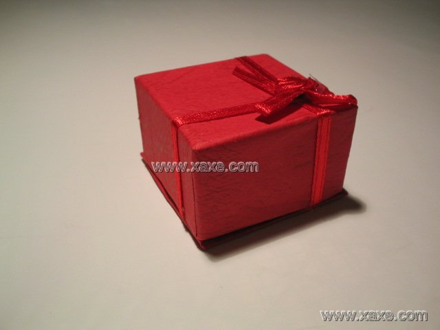 red square jewelry box