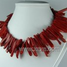 Lovely red coral bar necklace