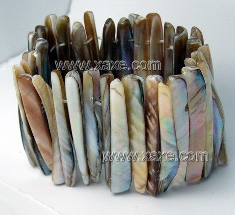 Lovely oyster long bar shell bracelet