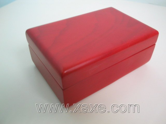 Red rose wood jewerly box