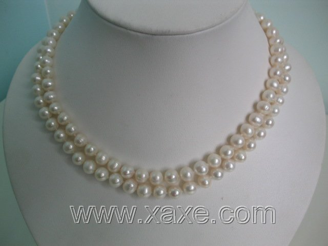 2-row white freshwater pearl