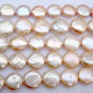 "Wholesale 5 strands 16"""" pink coin pearl"