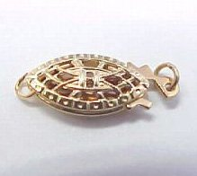 14k solid gold fish-hook clasp