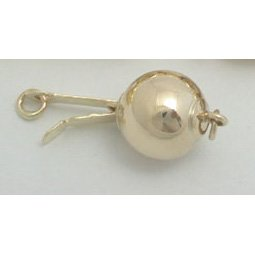 14k solid gold ball clasp - 12mm