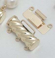 14k solid gold clasp for 3 strands