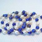 Wholesale 5 pcs pearl and lapis bead bracelet