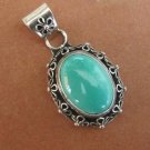Turquoise pendant on sterling silver setting
