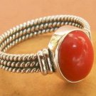 Coral ring sterling silver holder
