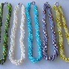 Wholesale 5 pcs 5row flat pearl necklaces