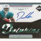 1/1 2011 LIMITED DANIEL THOMAS PLATINUM SPOTLIGHT RC AUTO LOGO PATCH #1/1 EXQUISITE!