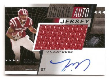 1/1 2011 SP AUTHENTIC SPX TANDON DOSS ROOKIE AUTO JERSEY 1/1 #001/225 FIRST ONE!