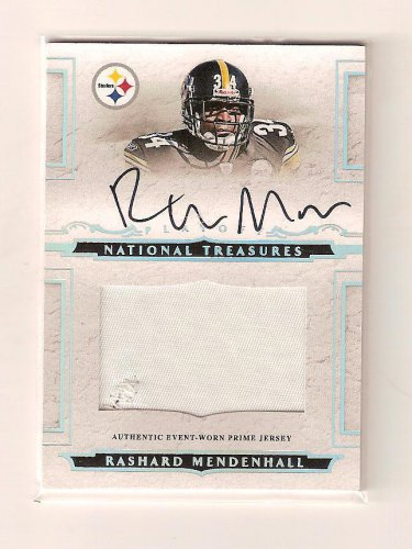 1/1 NATIONAL TREASURES RASHARD MENDENHALL ROOKIE AUTO PATCH #1/99 1/1 FIRST ONE!